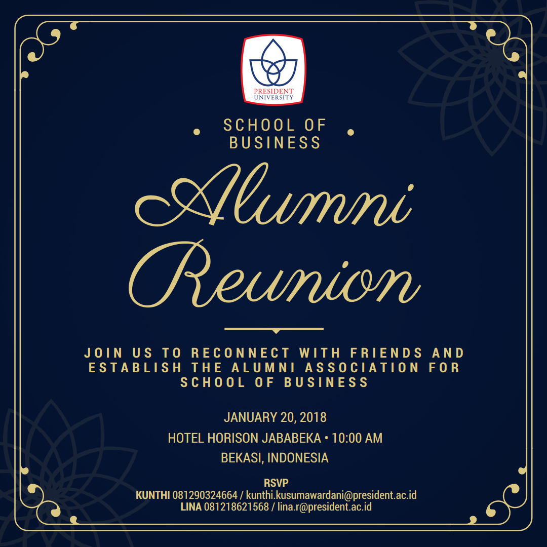 School Of Business Alumni Reunion President University Alumni Portals